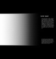 halftone dots background template vector image
