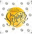 helo summer card vector image