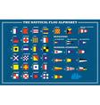 International maritime signal flags - sea alphabet vector image vector image