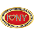 I love New York gold sign vector image vector image