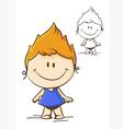 little cute girl vector image vector image