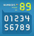 Paper origami numbers collections design vector image vector image