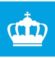 Crown white icon vector image