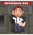 Cartoon character in Wild West - messenger boy vector image