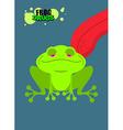 Narcotic frog Acid Toad Narcotic amphibious Tongue vector image