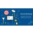 Internet Marketing Banner Flat design vector image