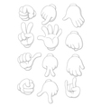 cartoon human hand vector image