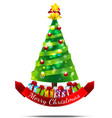 Christmas tree Isolated on white backgroud vector image