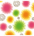color bubbles and flowers background icon vector image