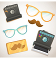 Hipster trendy items vintage collection vector image