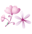 Purple flower vector image