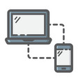 responsive web design filled outline icon seo vector image