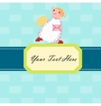 Angel with a letter card vector image vector image