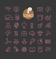 different science icons collection web and mobile vector image vector image