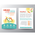 healthy lifestyle concept Brochure Flyer design vector image vector image