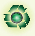recycle globe vector image vector image