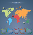 Abstract world map with pointers template vector image