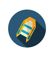 Inflatable boat flat icon Summer Vacation vector image