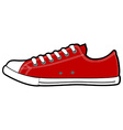 isolated modern low red sneakers vector image