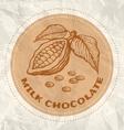 milk chocolate vintage paper vector image