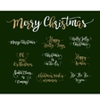 set of handdrawn Christmas lettering vector image