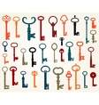 Set of old keys vector image