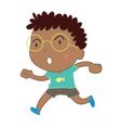 Simple child cartoon vector image