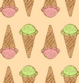 Sketch icecream cone in vintage style vector image