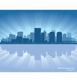 Richmond Virginia skyline city silhouette vector image vector image