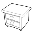 Nightstand icon isometric 3d style vector image