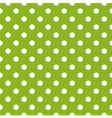 Seamless spring green pattern and white polka dots vector image