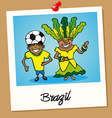 Brazil travel polaroid people vector image vector image