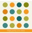 set of circle labels vector image