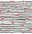 Hand drawn seamless pattern with roses vector image
