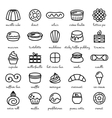 line icon set of world best desserts and sweets vector image