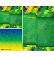 Set of geometric backgrounds using Brazil colors vector image