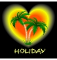 two palm trees against a bright background vector image