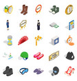clothing accessories icons set isometric style vector image