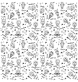 Doodles creative ideas black and white lines vector image