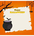 Happy halloween party festival card vector image