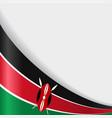 kenyan flag background vector image