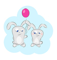 love bunny balloons vector image