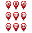 Set of Transport RED pointer vector image