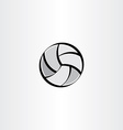 stylised volleyball icon vector image
