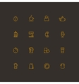 Coffee and tea line icon set vector image vector image