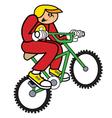 Boy on bike vector image vector image