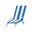 beach chair isolated vector image