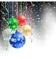 christmas bauble black background vector image