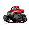 Cartoon Monster Truck one-click repaint vector image vector image