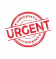 Urgent rubber stamp vector image